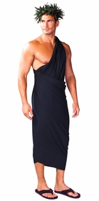 Black Mens Sarong PLUS SIZE