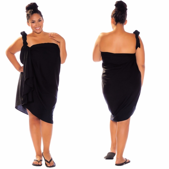 Black Top Quality Sarong PLUS SIZE