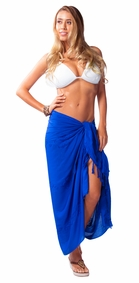 Blue Embroidered Sarong