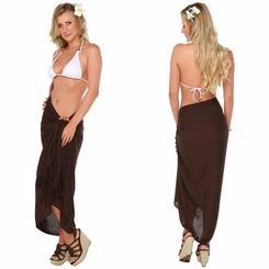 Solid Brown Sarong