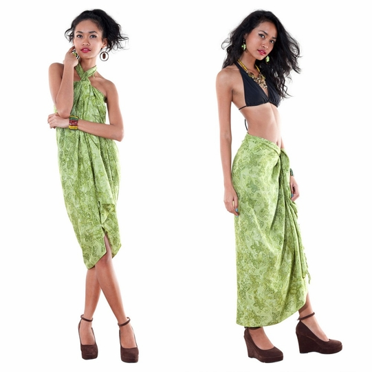 Butterfly Sarong in Olive Green
