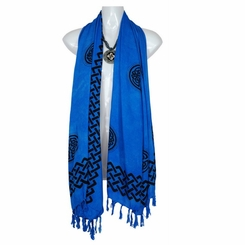 Celtic Interlace Knotwork Designed Extra Wide Scarf, Wrap or Shawl - in your choice of colors