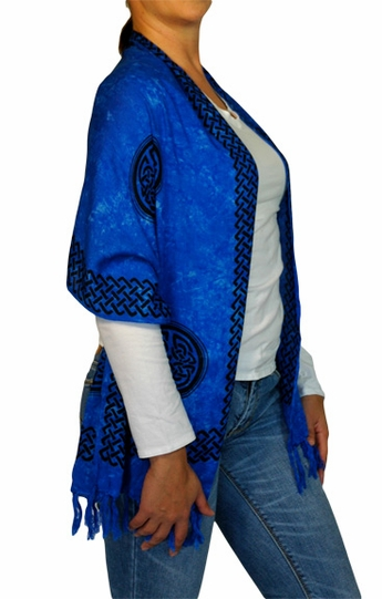 "Celtic Knot Sarong - Scarf ""Blue"""