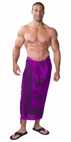 Celtic Mens Sarong in Interlace Knotwork Royal Purple