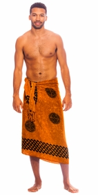 Celtic Mens Sarong in Interlace Knotwork Soft Gold