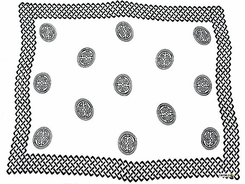 "Celtic Mens Sarong ""Interlace Knotwork"" Black / White"
