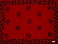 "Celtic Mens Sarong ""Interlace Knotwork"" Rose Red"