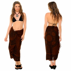 "Celtic Sarong ""Celtic Cross 2"" Deep Brown"