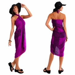 "Celtic Sarong ""Celtic Cross 3"" Royal Purple"