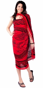 Celtic Sarong in Unicorn Rose Red