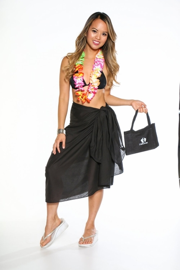 Cotton Sarong with a Bag in Black