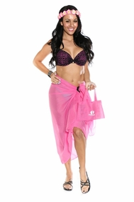 Cotton Sarong in Hot Pink with a Bag