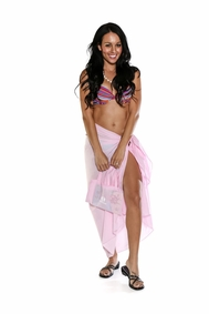 Cotton Sarong in Pink with a Bag