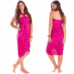 Dahlia Floral Sarong in Hot Pink