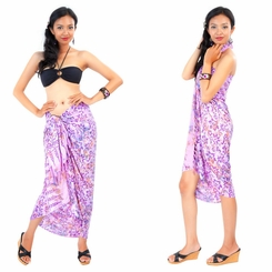 Dahlia Floral Sarong in Light Purple