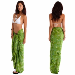 "Dragonfly Sarong ""Light Olive Green"""