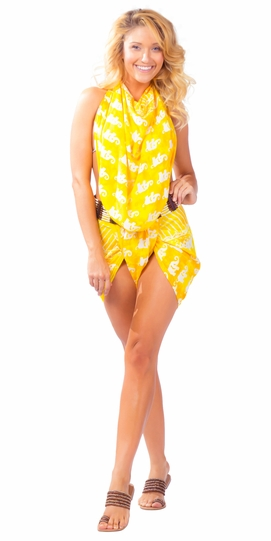 Elephant Sarong in Yellow