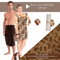 Show Your Wild Side Feline Print and Sulu Set
