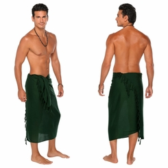 Forest Green Mens Solid Sarong