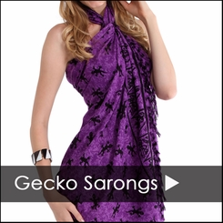 Gecko Sarong Cover Up - Gecko Sarongs $8.99 & Up