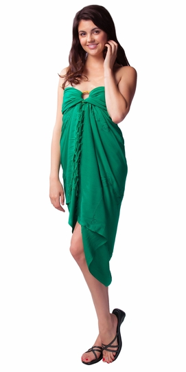 Green Embroidered Sarong