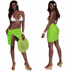 HALF SARONG / MINI SARONG PAREO GREEN-LIME