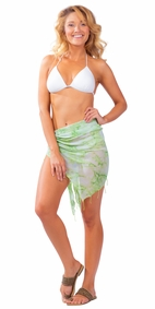 Half Smoked Sheer Sarong in Green