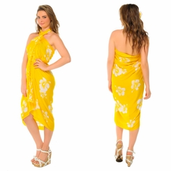 Hibiscus Sarong Yellow/White