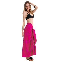 Hot Pink Embroidered Sarong