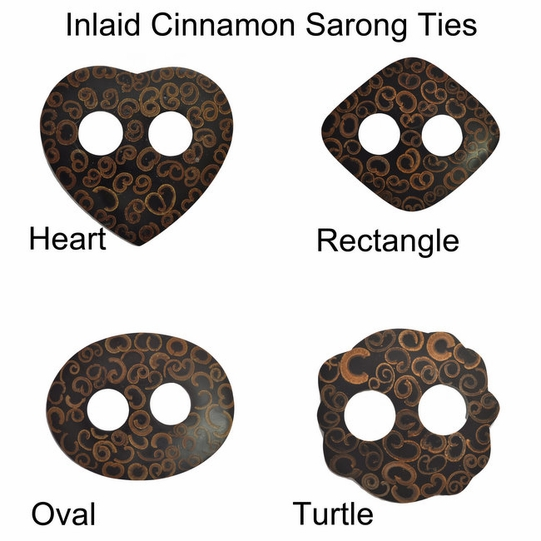 Inlaid Cinnamon Sarong Ties