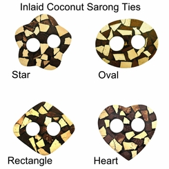 Inlaid Coconut Sarong Ties
