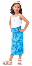 Kids Elephant Half Sarong in Blue / Turquoise