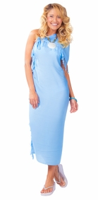 Light Blue Solid Sarong