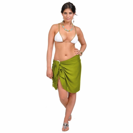 Light Green Olive Half Sarong