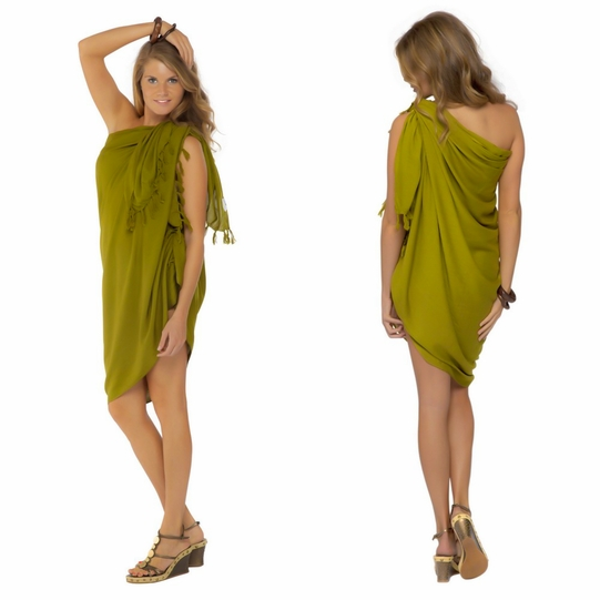 Light Green Olive Sarong