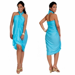 Light Turquoise Solid Sarong