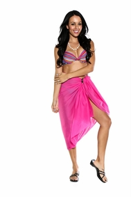 Light Weight Cotton Sarong in Hot Pink