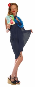 Light Weight Cotton Sarong in Navy Blue