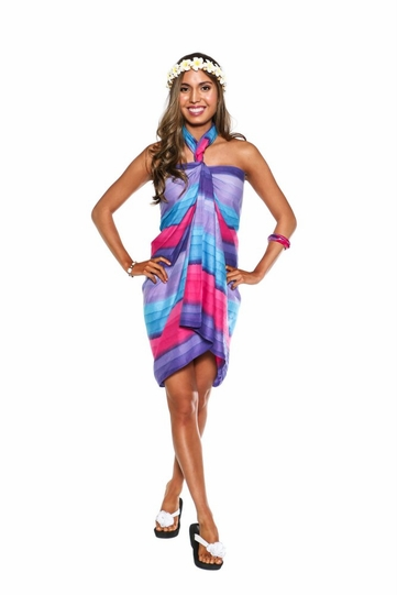 Light Weight Cotton Sarong in Pink Purple and Turq Ombre