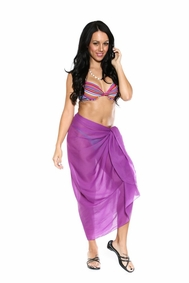 Light Weight Cotton Sarong in Purple