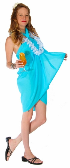 Light Weight Cotton Sarong in Turquoise
