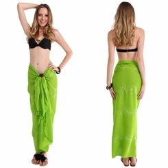 Lime Green Embroidered Sarong