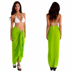 Lime Green Solid Sarong