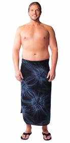 "Mens Sarong ""Charcoal Gray"" Smoked PLUS SIZE"
