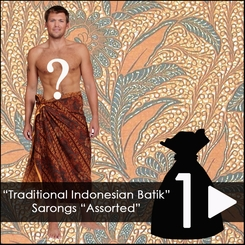 Mens Traditional Indonesian Batik Sarongs *Assorted