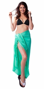 Mint Embroidered Sarong