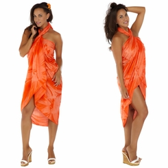 """Orange"" Smoked Sarong PLUS SIZE XL - 3X"