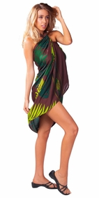 "Palm Sarong """"Coconut Breeze"""" Brown-NO RETURNS"