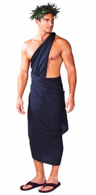 "PLUS SIZE Mens Sarong ""Black"""