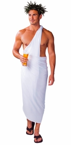 PLUS SIZE Mens Sarong in White